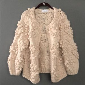 Chicwish Pompom Open Knot Cardigan